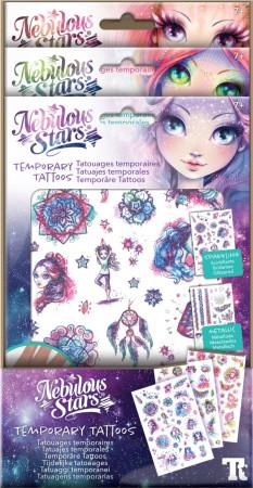 NEBULOUS STARS rinkinys Temporary Tattoos - Asst., 11410 11410