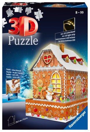 RAVENSBURGER dėlionė Gingerbread House, naktinė versija, 215d., 11237 11237